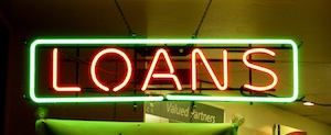 Neon Loans Sign